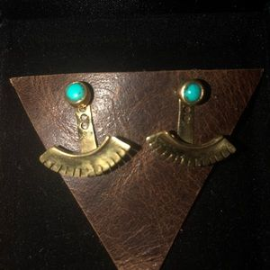 Jewelry - Turquoise and Sterling Silver Stud Earings